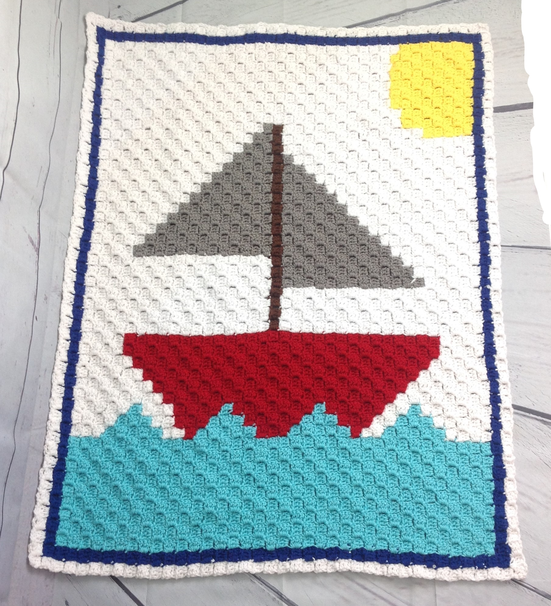 Sailboat C2c Baby Blanket Free Crochet Pattern Okiegirlbling N Things